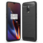 Flexi Slim Carbon Fibre Case for OnePlus 6T - Brushed Black